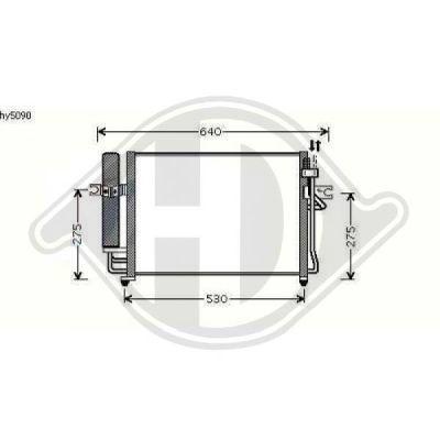 Condenseur, climatisation - Diederichs Germany - 8680502