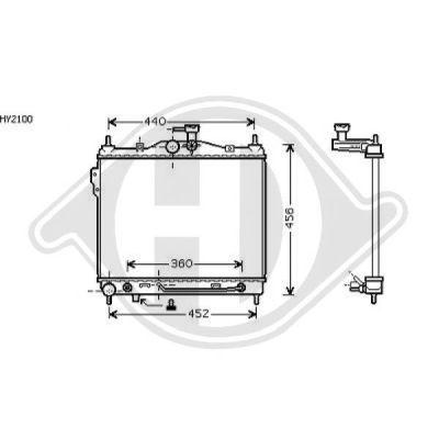 Radiateur, refroidissement du moteur - Diederichs Germany - 8680503