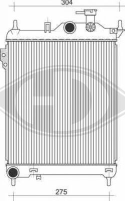 Radiateur, refroidissement du moteur - HDK-Germany - 77HDK8680504