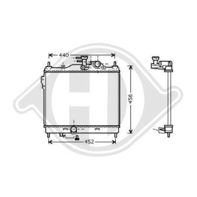 Radiateur, refroidissement du moteur - HDK-Germany - 77HDK8680506