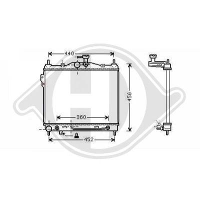 Radiateur, refroidissement du moteur - HDK-Germany - 77HDK8680507