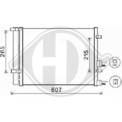 Condenseur, climatisation - Diederichs Germany - 8680600