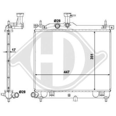 Radiateur, refroidissement du moteur - HDK-Germany - 77HDK8680605
