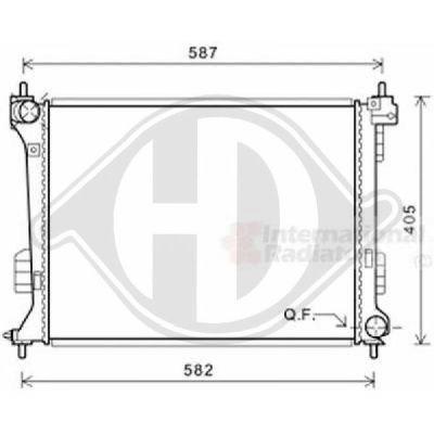 Radiateur, refroidissement du moteur - HDK-Germany - 77HDK8680606
