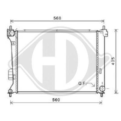 Radiateur, refroidissement du moteur - HDK-Germany - 77HDK8680607