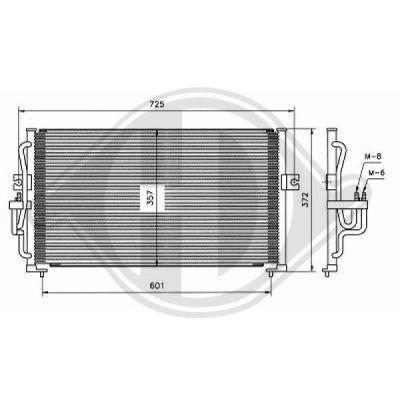 Condenseur, climatisation - Diederichs Germany - 8682000