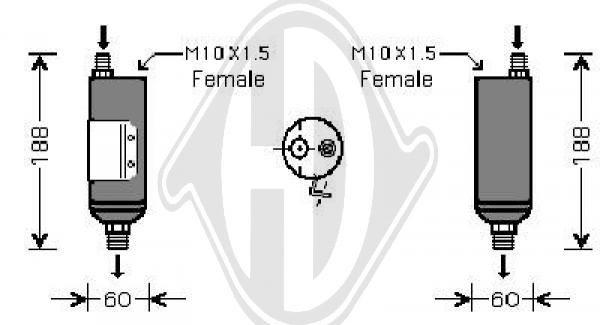 Filtre déshydratant, climatisation - HDK-Germany - 77HDK8682103