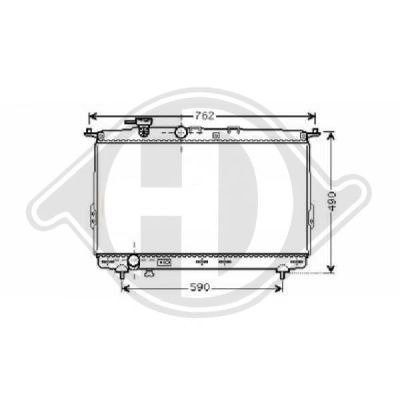 Radiateur, refroidissement du moteur - HDK-Germany - 77HDK8682105