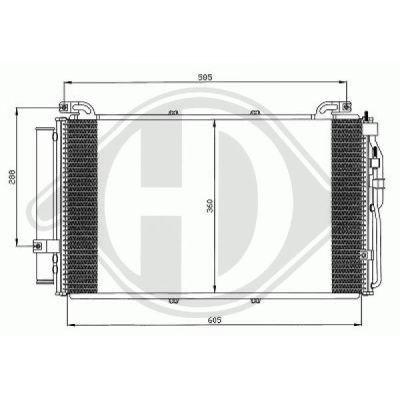 Condenseur, climatisation - Diederichs Germany - 8682580