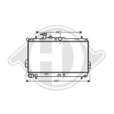 Radiateur, refroidissement du moteur - HDK-Germany - 77HDK8682585
