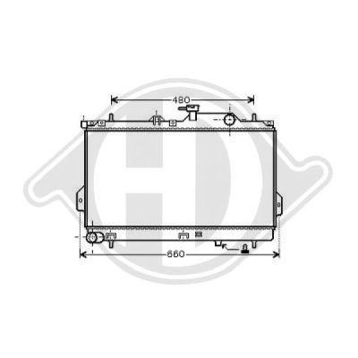 Radiateur, refroidissement du moteur - Diederichs Germany - 8682586