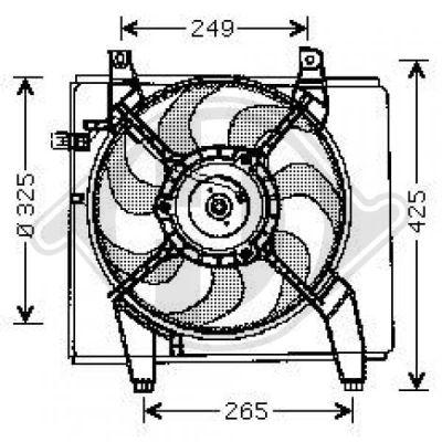 Ventilateur, condenseur de climatisation - Diederichs Germany - 8682590