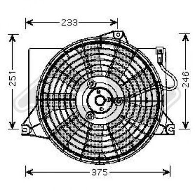 Ventilateur, refroidissement du moteur - HDK-Germany - 77HDK8682591