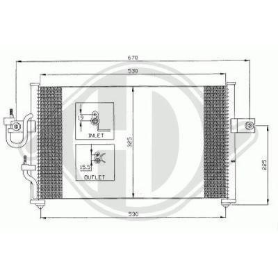 Condenseur, climatisation - Diederichs Germany - 8683000