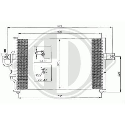 Condenseur, climatisation - HDK-Germany - 77HDK8683000