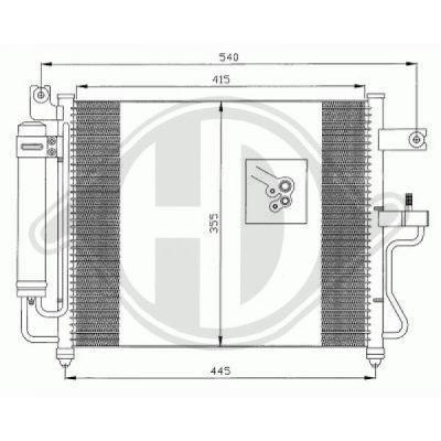 Condenseur, climatisation - Diederichs Germany - 8683200