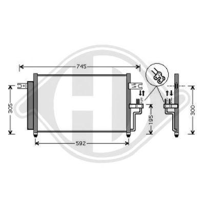 Condenseur, climatisation - Diederichs Germany - 8683202