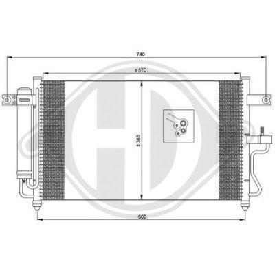 Condenseur, climatisation - Diederichs Germany - 8683203