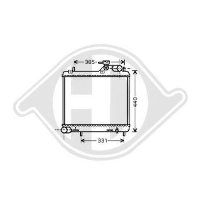 Radiateur, refroidissement du moteur - Diederichs Germany - 8683205