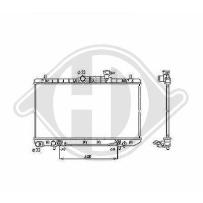Radiateur, refroidissement du moteur - Diederichs Germany - 8683206