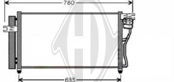 Condenseur, climatisation - Diederichs Germany - 8683300