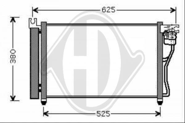 Condenseur, climatisation - Diederichs Germany - 8683301