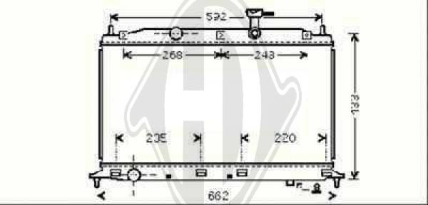 Radiateur, refroidissement du moteur - HDK-Germany - 77HDK8683305