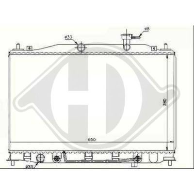 Radiateur, refroidissement du moteur - Diederichs Germany - 8683306