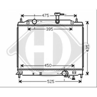 Radiateur, refroidissement du moteur - Diederichs Germany - 8683307
