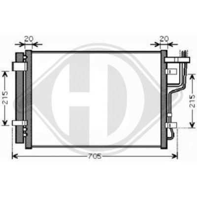 Condenseur, climatisation - Diederichs Germany - 8683500
