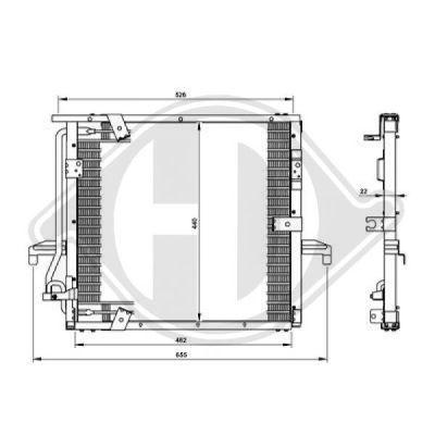 Radiateur, refroidissement du moteur - Diederichs Germany - 8683506