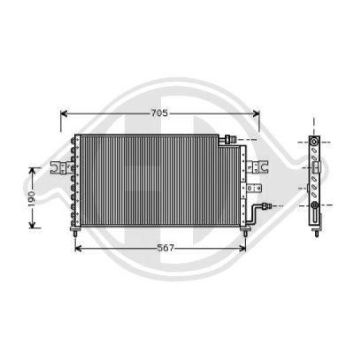 Condenseur, climatisation - Diederichs Germany - 8683900
