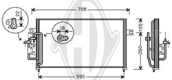 Condenseur, climatisation - Diederichs Germany - 8684100