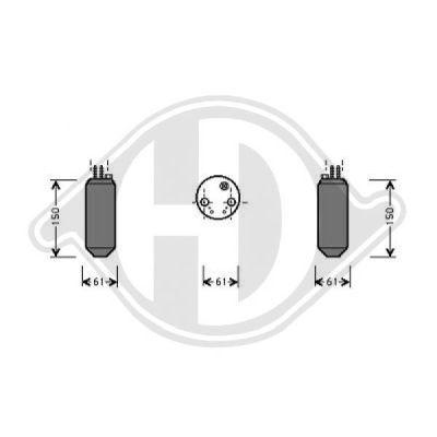 Filtre déshydratant, climatisation - Diederichs Germany - 8684101
