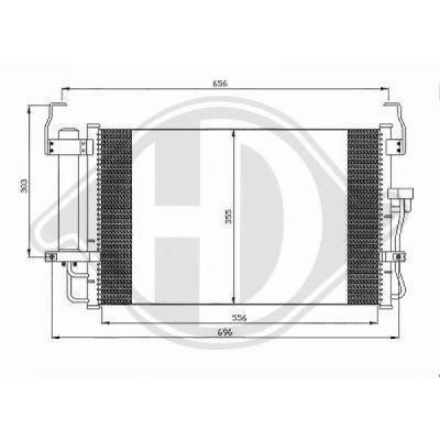 Condenseur, climatisation - Diederichs Germany - 8684300