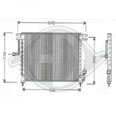 Condenseur, climatisation - Diederichs Germany - 8684400