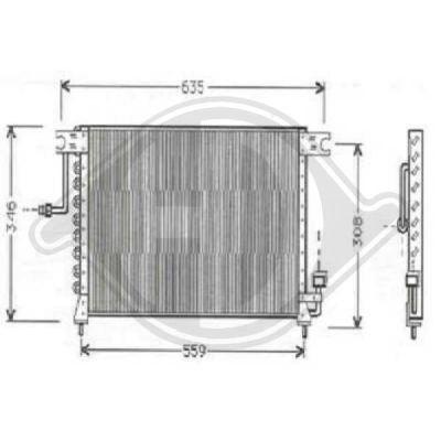 Condenseur, climatisation - Diederichs Germany - 8684401