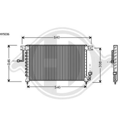 Condenseur, climatisation - Diederichs Germany - 8684402