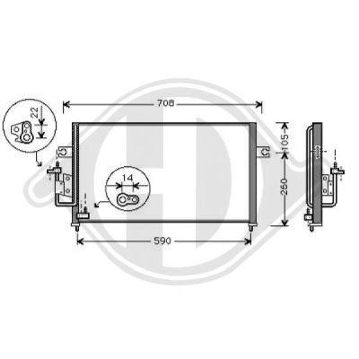 Condenseur, climatisation - Diederichs Germany - 8684501