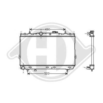 Radiateur, refroidissement du moteur - Diederichs Germany - 8684606