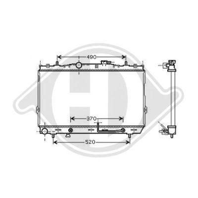 Radiateur, refroidissement du moteur - Diederichs Germany - 8684607