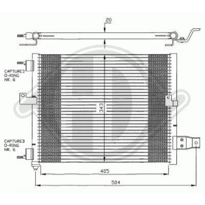 Condenseur, climatisation - Diederichs Germany - 8685000