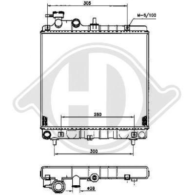 Radiateur, refroidissement du moteur - HDK-Germany - 77HDK8685005
