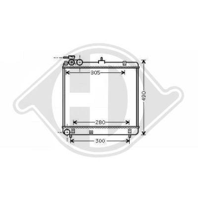 Radiateur, refroidissement du moteur - Diederichs Germany - 8685105