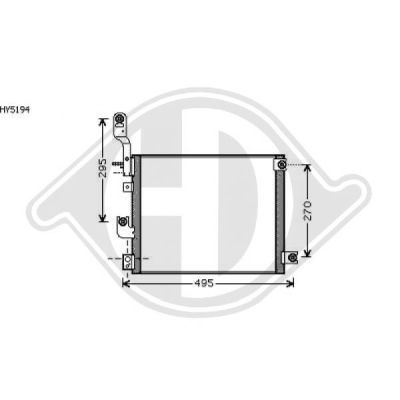 Condenseur, climatisation - HDK-Germany - 77HDK8685107