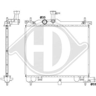 Radiateur, refroidissement du moteur - Diederichs Germany - 8685205