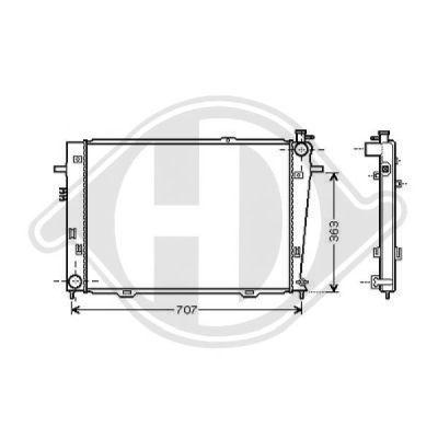 Radiateur, refroidissement du moteur - HDK-Germany - 77HDK8686005