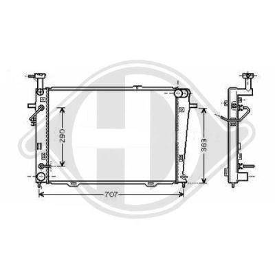 Radiateur, refroidissement du moteur - Diederichs Germany - 8686007