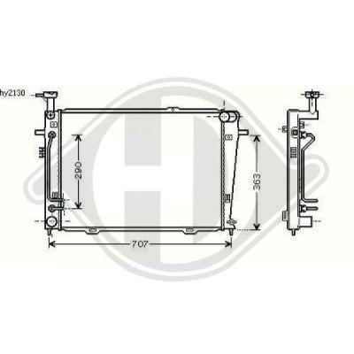 Radiateur, refroidissement du moteur - Diederichs Germany - 8686008