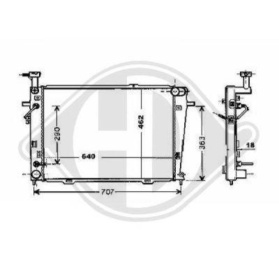 Radiateur, refroidissement du moteur - HDK-Germany - 77HDK8686009